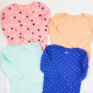 Carter's One Pieces - Carter's Set of 4 Long sleeves Onesies